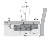 Klappenbeschlag Schwenkfix  95°  (Garnitur)