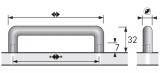 Möbelgriff -Avenio-  Bohrabstand 64mm  Edelstahl Optik