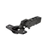 Topfscharnier sensys 110° für dünnee Türen ohne Schließautomatik (Mittelseite) in obsidianschwarz