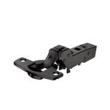 Topfscharnier sensys 110° für dünne Türen ohne Schließautomatik (einliegende Tür) in obsidianschwarz