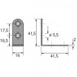 Universalwinkel 41,5mm / 41,5mm