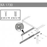 Kugelauszug KA 1730 Teilauszug Nennlänge 450 (Garnitur)