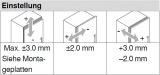 Topfscharnier CLIP top BLUMOTION 110° (Innenanschlag)