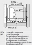 MOVENTO mit BLUMOTION S, Vollauszug 40 kg, NL=500, BLUM 760H5000S ZN
