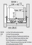 MOVENTO mit BLUMOTION S, Vollauszug 40 kg, NL=550, BLUM 760H5500S ZN