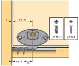 Laufteil unten zum Anschrauben für einliegende Türen