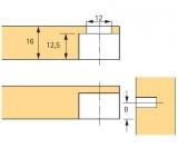 Exzenter Verbindungsbeschlag VB 35 M, Böden 16mm