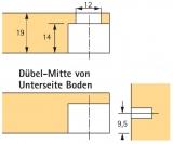 Exzenter Verbindungsbeschlag VB 35, Böden 19mm