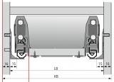 Actro mit Silent System für ArciTech Nennl. 350mm, Korpusseite 16mm, 10kg
