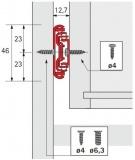 Kugelauszug KA 4532 Silent System Vollauszug 350mm (Garnitur)