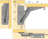 Klappenbeschlag Lift 90, Öffnungswinkel 90°  (Garnitur)
