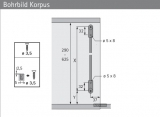 Klappenbremse Klassik D mit Lager LS 3280 D