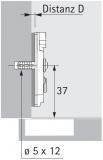 Anschraub-Kreuzmontageplatte TOP 0mm sensys, für Bohrungen 5mm