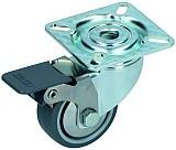 Lenkrolle mit Gleitlager und Feststeller Rad 50mm