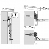 Schrankaufhänger SAH 215 (Garnitur)