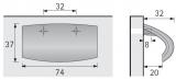 Möbelgriff -Roma- Bohrabstand 32mm Chrom glanz