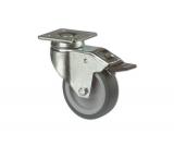 Apparate-Lenkrolle mit Feststeller für harte Böden  Rad 75mm