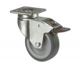 Apparate-Lenkrolle mit Feststeller für harte Böden  Rad 100mm