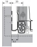 QuadroV6 Push to open für InnoTech Nennl. 520mm Korpusseite 19mm