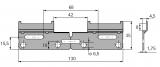 Aufhängeschiene Tyb L  abknickbar (Länge 130mm)