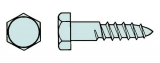 Sechskant-Holzschraube DIN 571  6,0 x 50mm