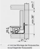 MOVENTO mit BLUMOTION S, Vollauszug 40 kg, NL=380, BLUM 760H3800S ZN