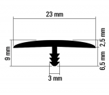 Stegkante PVC  25m  Reinweiß  23mm breit