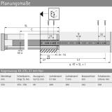 Kugelauszug KA 270 Teilauszug 550 (Garnitur)