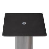 Tischfuß Espresso  Chrom  710mm