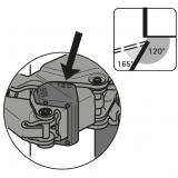 Öffnungswinkelbegrenzer für Sensys 8657i  105° / 120°