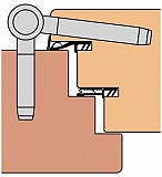 ANUBA-HERKULA-Bänder Mod. HR18 verzinkt, 18 mm, Höhe 57 mm Bolzen 40/60 mm