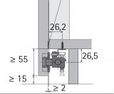 Führungsprofil WingLine 77 (unten)  2000mm  silber